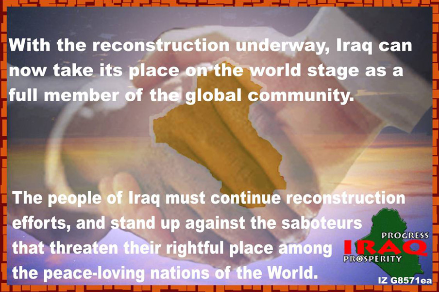 Random PSYOP leaflet - The people, culture and economy of Iraq…