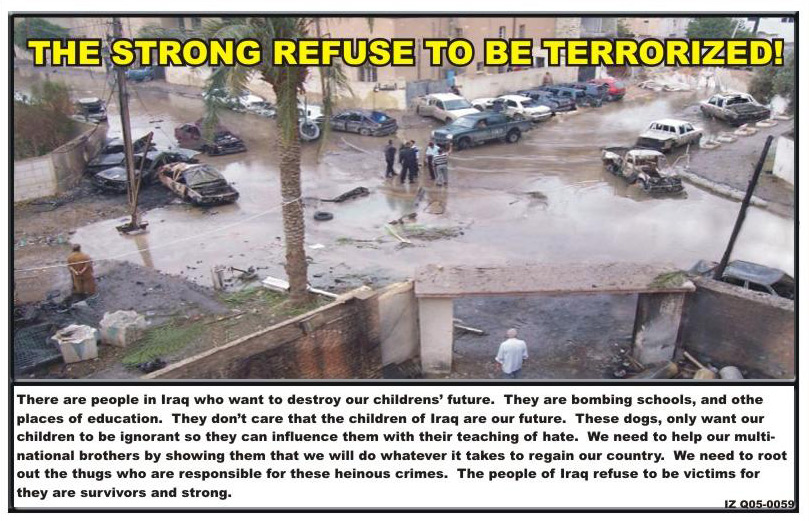 Random PSYOP leaflet - There are people in Iraq who want to destroy our children's future