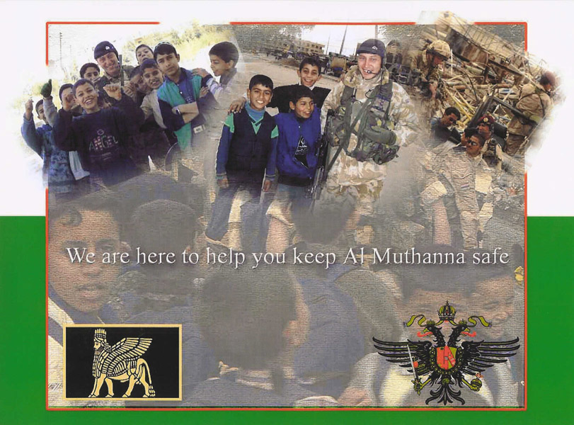 Random PSYOP leaflet - We are here to help you keep Al Muthanna safe