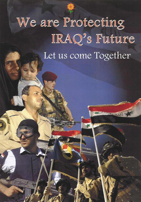 Random PSYOP leaflet - We are Protecting IRAQ's Future