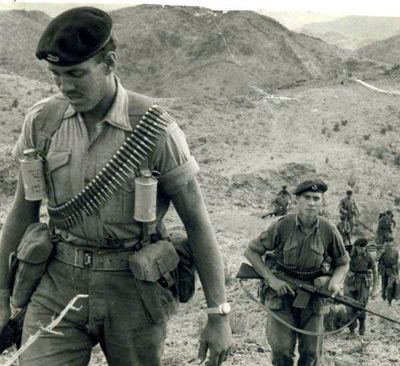 A British Army patrol in the hills of Aden