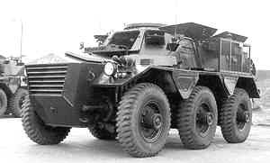 A Saracen Armored Personnel Carrier