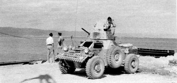 Aden Emergency - A Ferret scout car in Aden