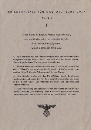 H.1362 / Q.73, Articles of War for the German People