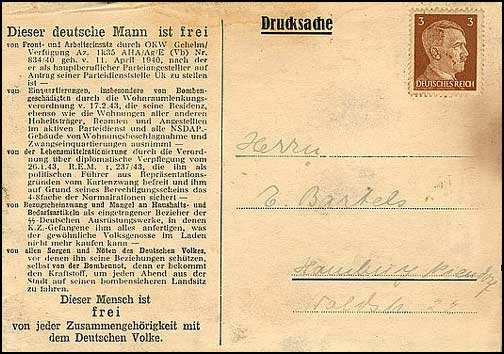 H.627 / Q.25, This German Man Is Free - Dr. Scheel Drucksache