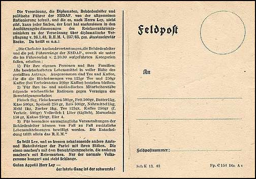 H.641 / Q.30, The Ley Postcard - Feldpost