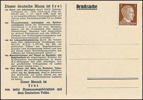 H.899 / Q.49, This German Man Is Free - Dr. Schieber Drucksache