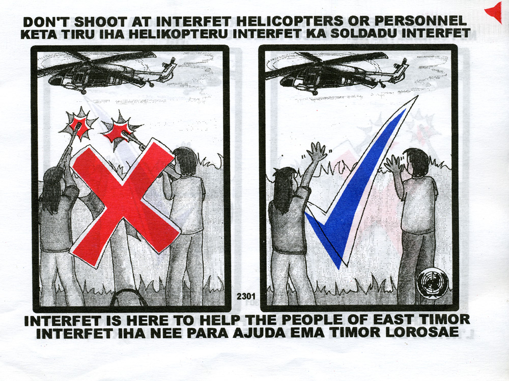 Random PSYOP leaflet - INTERFET IS HERE TO HELP THE PEOPLE OF EAST TIMOR