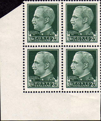 Propaganda stamps - The Italian King Victor Emmanuel Forgery