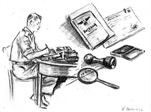 Operation Sauerkraut - Eddie Linder prepares documents at the front lines