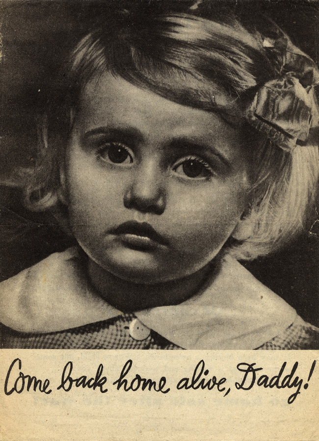 Random PSYOP leaflet - A child is weeping -