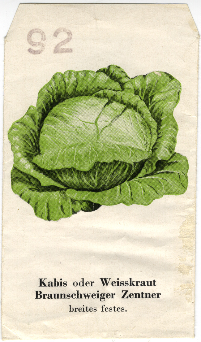 Random PSYOP leaflet - Cabbage or white cabbage seed packet