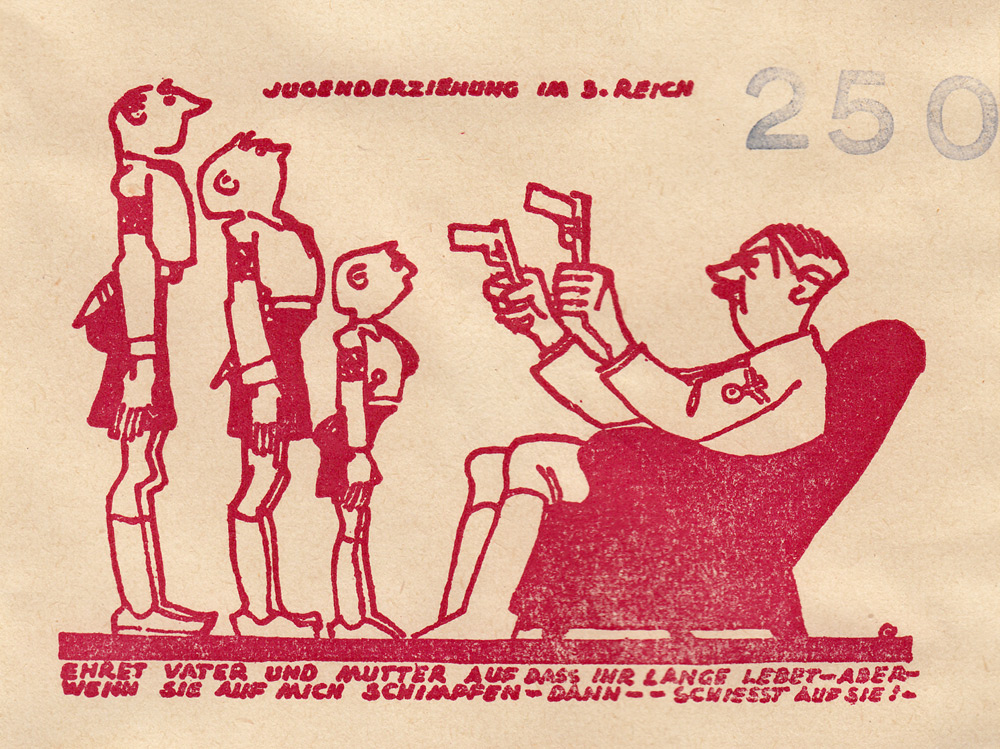 Random PSYOP leaflet - EDUCATION OF THE YOUTH IN THE 3RD REICH