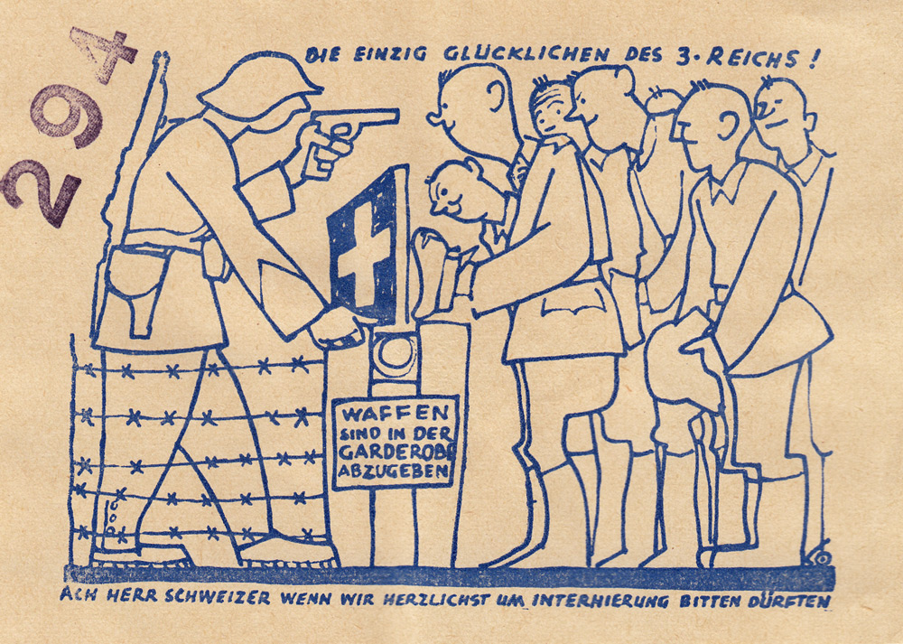 Random PSYOP leaflet - THE ONLY HAPPY ONES IN THE 3RD REICH!