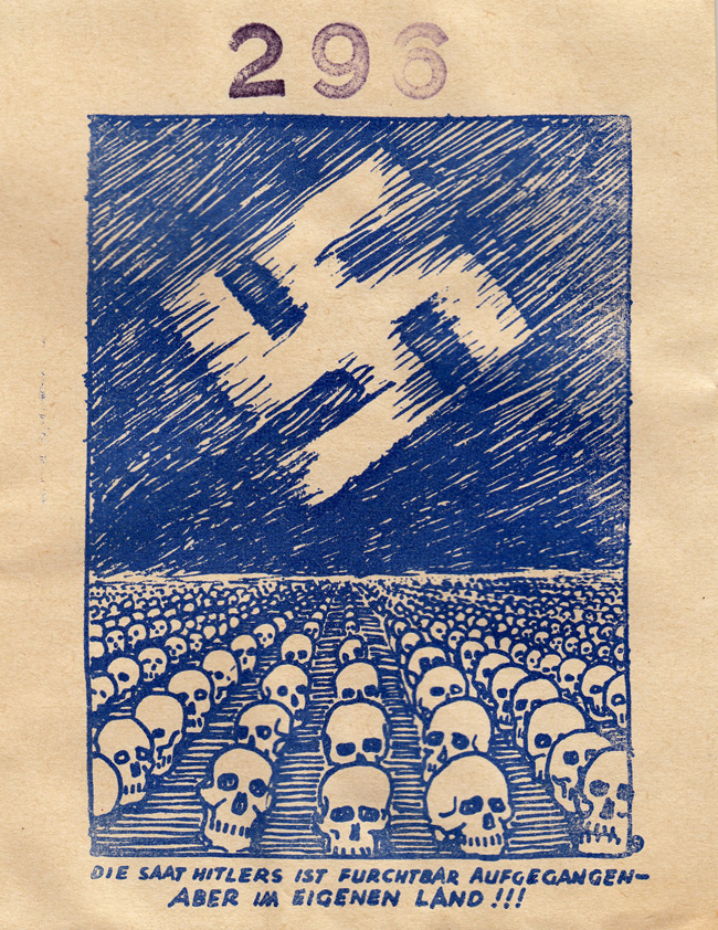 Random PSYOP leaflet - HITLER'S SEED HAS GROWN AWFULLY - BUT IN HIS OWN COUNTRY!!!