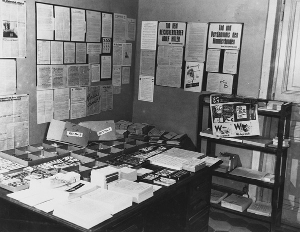 OSS print shop displaying examples of their black propaganda