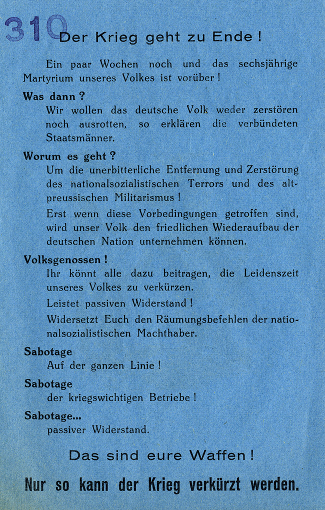 OWI/OSS Berne Black Propaganda Catalogue, 1943-1945