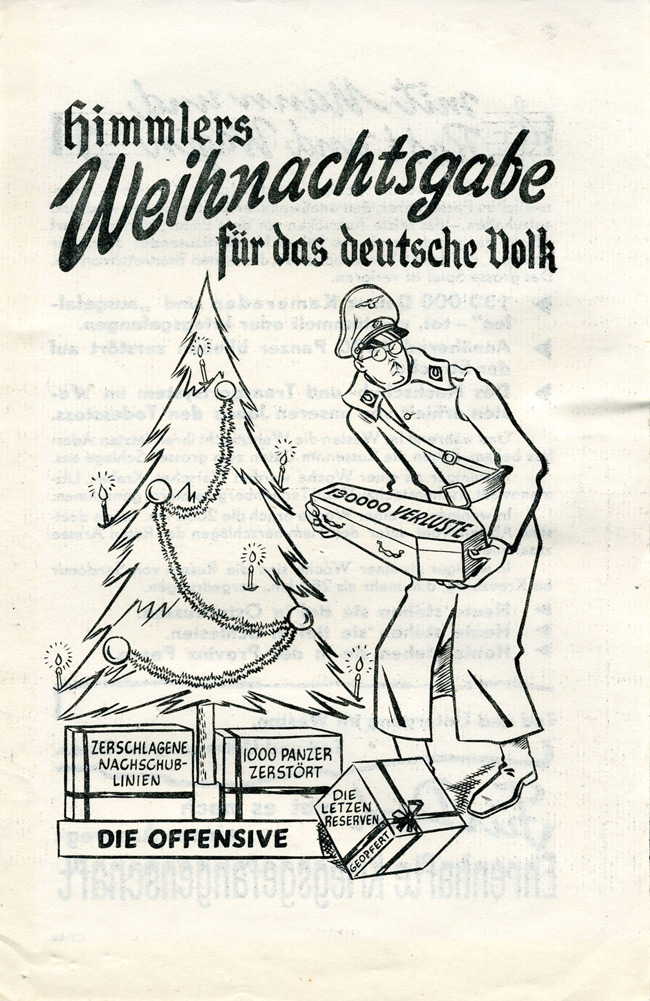 Random PSYOP leaflet - Himmler's Christmas present for the German People