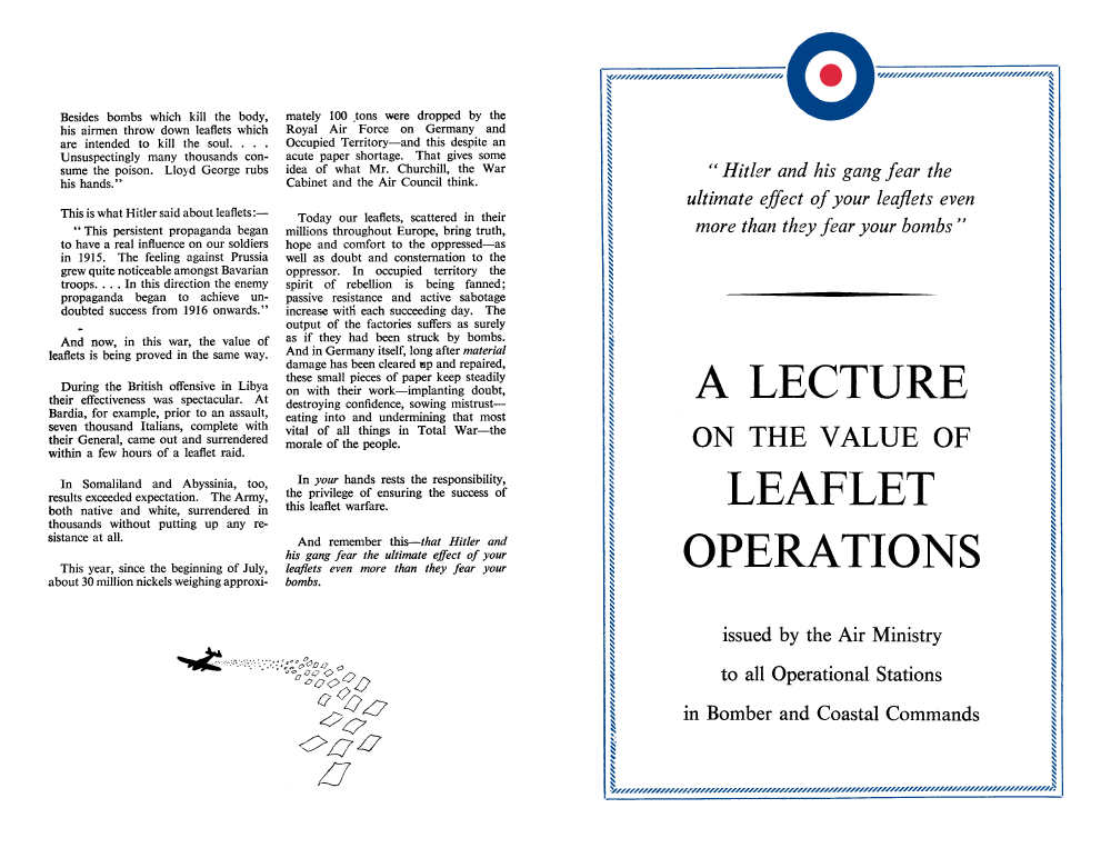 A Lecture on the Value of Leaflet Operations (Obverse)