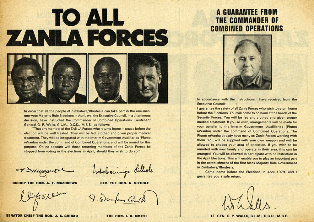 Random PSYOP leaflet - TO ALL ZANLA FORCES
