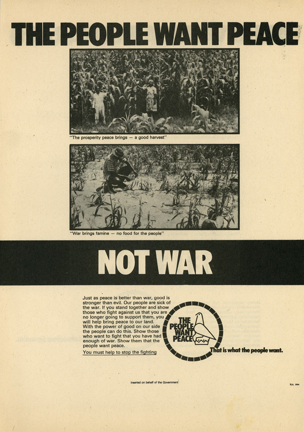 Random PSYOP leaflet - Just as peace is better than war, good is stronger than evil