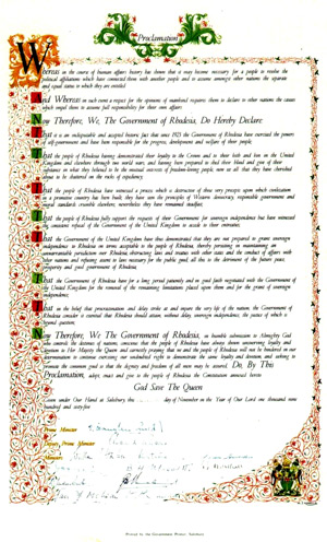 Rhodesian Unilateral Declaration of Independence