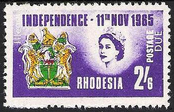 Rhodesian Independence Stamp Parody