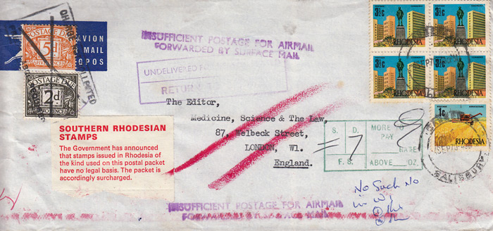 Rhodesia Postage Due