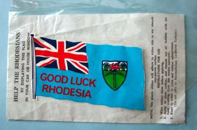 British Pro-Rhodesia Patriotic Label
