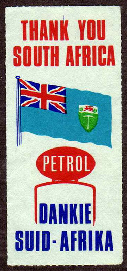 Rhodesian Patriotic Label
