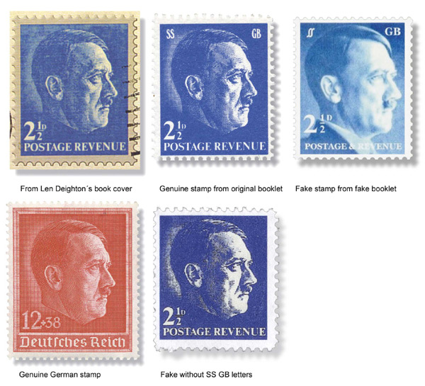 Fakes of the Len Deighton SS/GB Fantasy Stamps