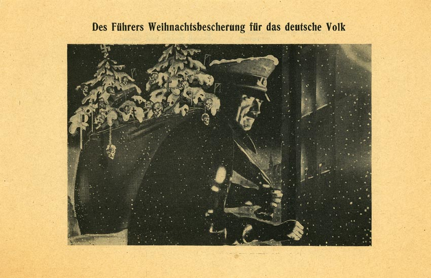 Random PSYOP leaflet - The Führer's Christmas Presents for the German People
