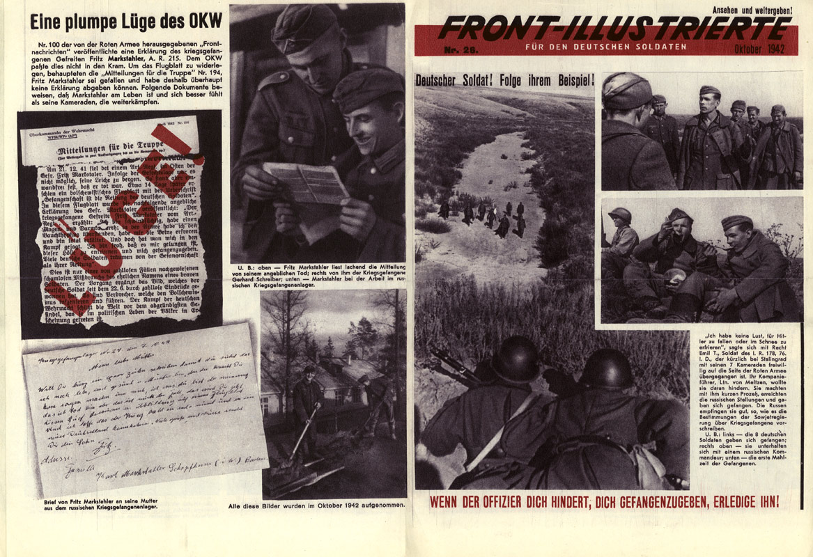 Random PSYOP leaflet - Front Illustrated for German Soldiers, No. 26, October 1942