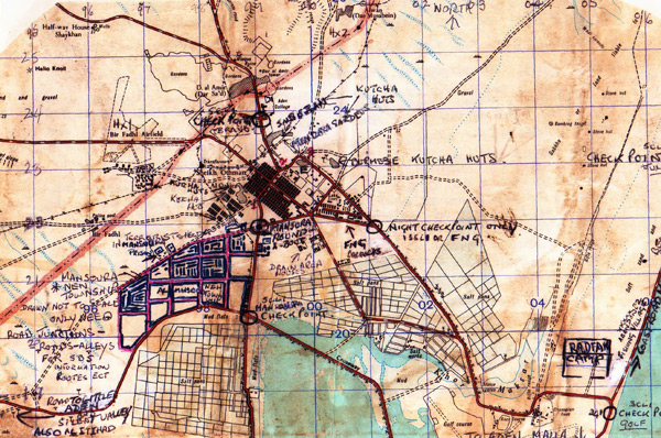 Sergeant Bob Bogan's Personal Military Map of Northern Aden
