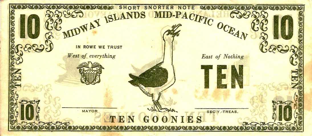 The Midway Island Gooney Bird Banknote