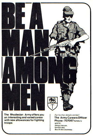 Recruiting poster for the Rhodesian Army