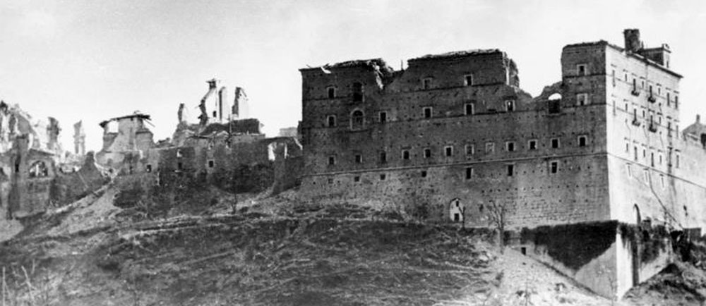 The Abbey after the Allied Bombing