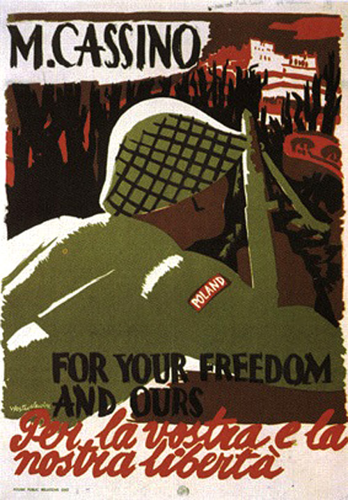 Poster - M. Cassino – For your Freedom and Ours