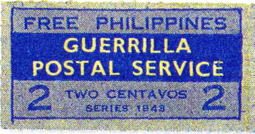 The Free Philippines Guerrilla Postal Service  Propaganda Stamp