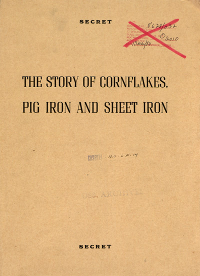 The Story of Cornflakes, Pig Iron and Sheet Iron booklet