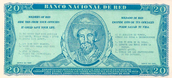 The 'Banco Nacional de Red' 20 Peso Training Banknote