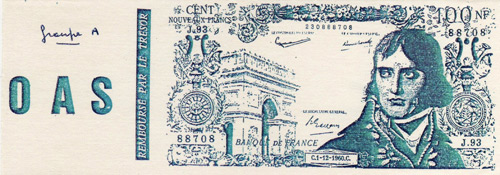 The OAS Secret Army Banknote Leaflet