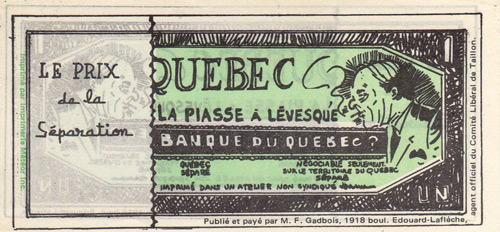 The anti-FLQ Banknote