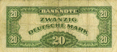 The Genuine German 20 Mark Banknote�