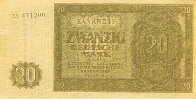 The NTS 20 Mark East German Banknote