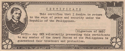 The 2 Peso HUK Safe Conduct Banknote Front