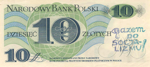 Genuine Banknote Overprinted 'Socialism to the Gas Chamber. Overcome your fear, do not vote'.