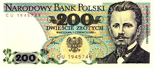 The Genuine 200 Zlotych Polish Banknote