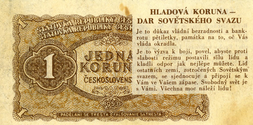 The Radio Free Europe One Koruna Banknote