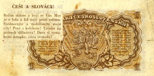 The Radio Free Europe One Koruna Banknote